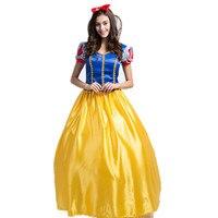 S-XXL Ultra Große Halloween Märchen Schneewittchen Cosplay Kostüme Blaue Disfraces Prinzessin Rolle Spielen Kleid H157322