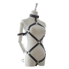 Секс Инструменты для продажи пикантные кожаные handcuss воротник груди жгут набор Секс-игрушки БДСМ повязки Сдержанность комплект секс-игрушки для человека и женщина