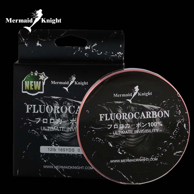 Fluorocarbon de pescuit Linia de lance 165YdS / 150M Fibra de carbon Linie de frunte Fluorocarbon linie de conducere linha de pescar