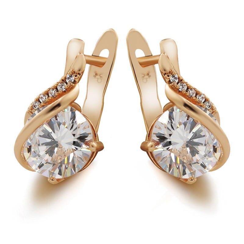 7f1bac3db MxGxFam CZ Hoop Earrings For Women Gold Color Fashion Jewelry AAA+ Cubic  Zircon Hot Buy