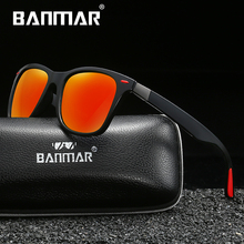 BANMAR BRAND DESIGN Classic TR90 Polarized Sunglasses Men Women Driving Square Frame Sun Glasses Male Goggle UV400 Oculos De Sol