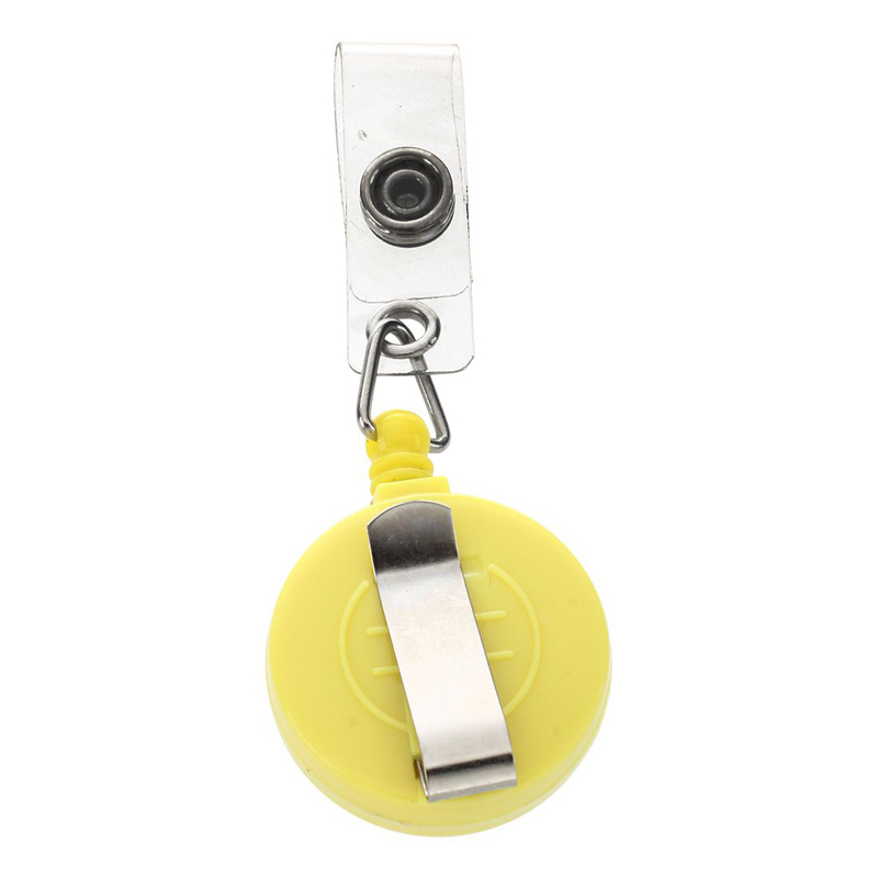 Reel ID Card Name Tag Badge Holders Clip Retractable Pull Snap Button  Anti-Lost Ski Pass Office School Supplies