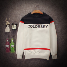 Stitching Letters Printed Swag Sudaderas Hoodies Harajuku HipHop Mens Hoodies 2016 Spring Stitching Mens Hedging Black Hoodies