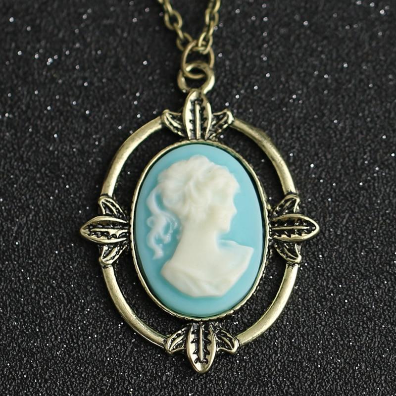 Ожерелье дневников вампира, винтажное ожерелье с кулоном в виде головы красавицы Katherine, модное ретро ювелирное изделие для мужчин и женщин, ...
