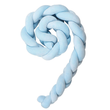 Baby Handmade Nodic Knot Newborn Bed Bumper Long Knotted Braid Pillow Baby Bed Bumper Knot Crib Infant Room Decor