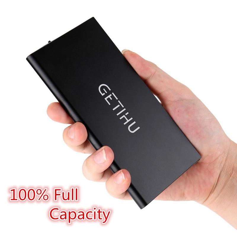 100 Original Brand GETIHU Smart Dual USB Port Power Bank Mobile Phone Source For iPhone 6