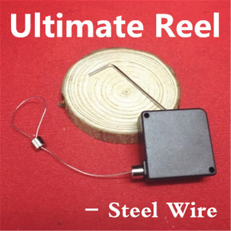 Ultimate Reel-Steel Wire Locked Version Magic Tricks Gimmick Best Magician Accessories Magia Toys Classic Joke