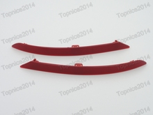 1Pair Left & Right Rear Bumper Light Reflectors For BMW 7Series F01 F02 2013