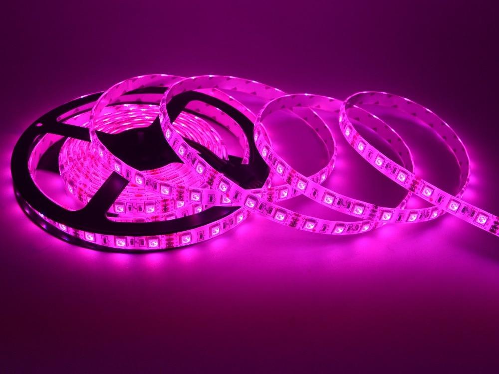 LED-csík 5050 DC 12V rugalmas LED-es LED 60 LED / m 5m / tétel RGB - LED Világítás - Fénykép 6