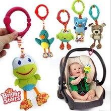 American quality baby toys красочные милые животные кулон для коляски и кроватки черная собака зеленая лягушка сова куклы