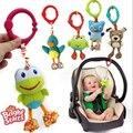Qualidade americano Brinquedos Do Bebê Colorido Bonito do animal cão pingente para Carrinho De Bebê e Berço Preto Verde sapo coruja bonecas