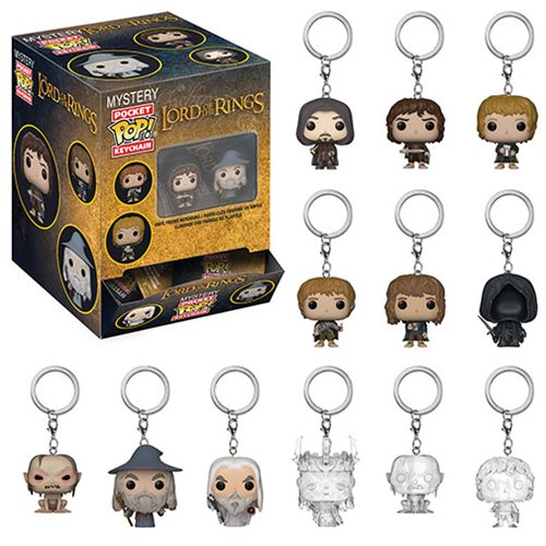 1pcs Blind Toy Original Funko Pop Keychain Lord of The Rings - One Mystery Key Chain Vinyl Action Figure Model Toy