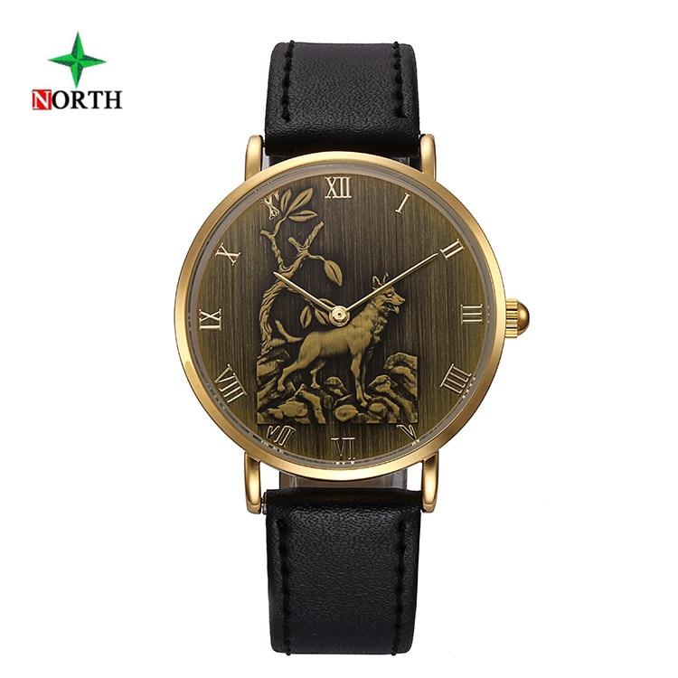 NORTH Chinese Zodiac Dog Men Women Watches Leather Wristwatch Male Clock Waterproof Quartz Man Sport Watch Relojes Hombre 2017 робот zodiac ov3400