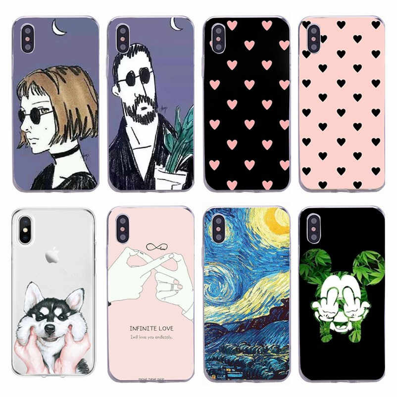 Voor iphone 5 Case Leuke TPU Patroon Back Cover voor iphone 5s 6s 6 7 8 Plus Case Silicon Soft Cover Voor iphone XR X XS Max Cover