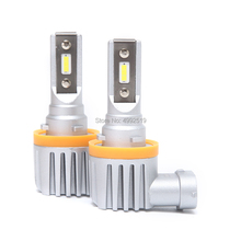 H11 9005/HB3 9006/HB4 светодиодный автомобиль Противотуманные фары лампы 2400Lm 6000 K белый 3000 K Желтый авто передняя противотуманная фара
