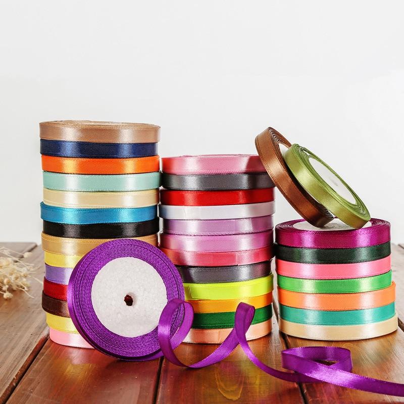 25 ярдов/рулон атласная лента Гро-Гро ленты для свадьбы Рождественская вечеринка украшения «сделай сам» бант ленты для поделок Упаковка для подарков
