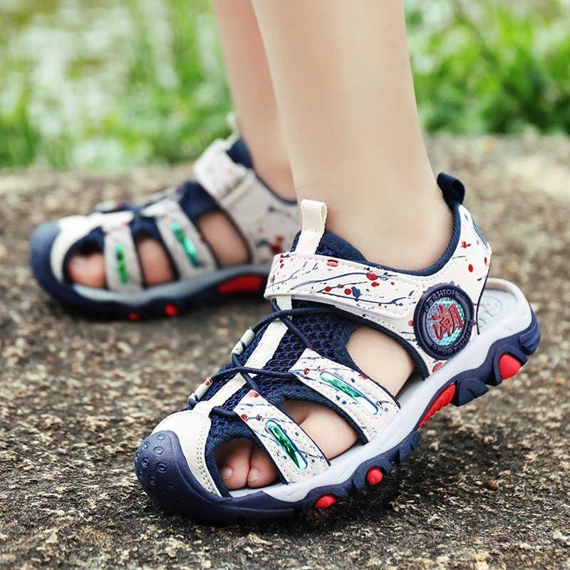 ULKNN الصبي الصنادل صبي كبير 8 سنة 5 لينة أسفل 12 جديد 2019 الفتيان 15 الشاطئ الأحذية النسخة 9 حذاء للأطفال 4 باوتو 10 الشاطئ