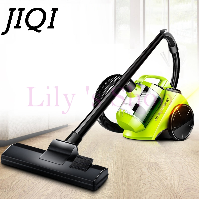JIQI 1400W rod drag Vacuum cleaner handheld electric suction machine brush dust collector Aspirator Catcher Home Portable duster jiqi mini vacuum cleaner sweeper household powerful carpet bed mites catcher cyclone dust collector aspirator duster eu us plug
