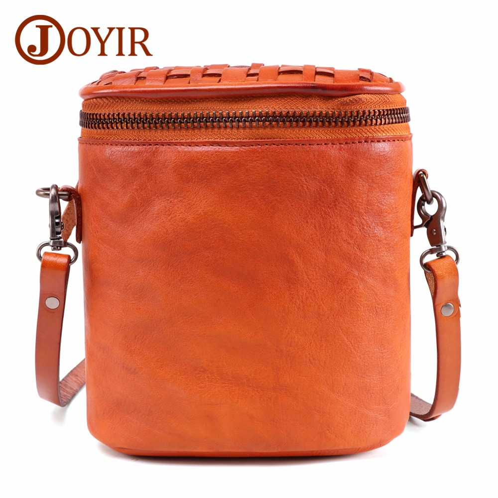 JOYIR Fashion Round Women Bags Female Woven Casual Crossbody Shoulder Lady Vintage Circular Messenger