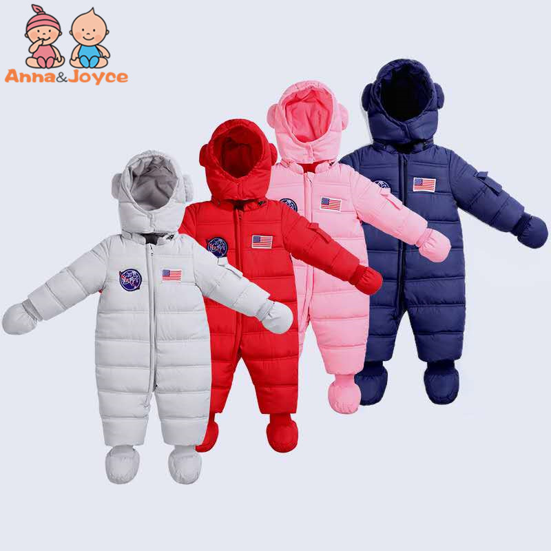 2018 New Style Winter Baby Down Cotton Bodysuits Clothes Plus Thickening Baby Winter Outfit Children's Rompers 6003 aosta betty baby rompers top quality cotton thickening clothes cute cartoon tiger onesie for baby lovely hooded baby winter