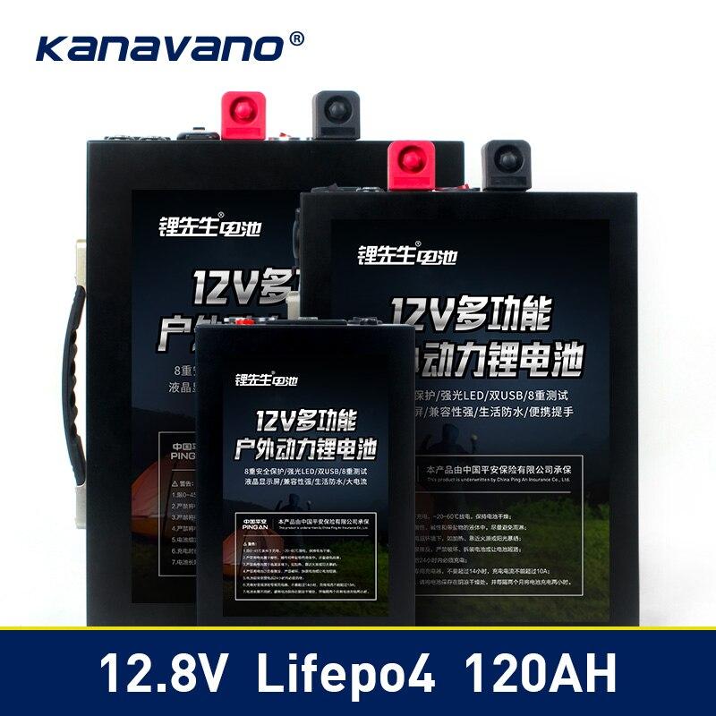 12 V LiFePo4 batería de fosfato de hierro de litio de 12,8 V 40ah 70ah 120ah Paquete de batería con BMS Junta 500A para UPS + 14,6 v 6A