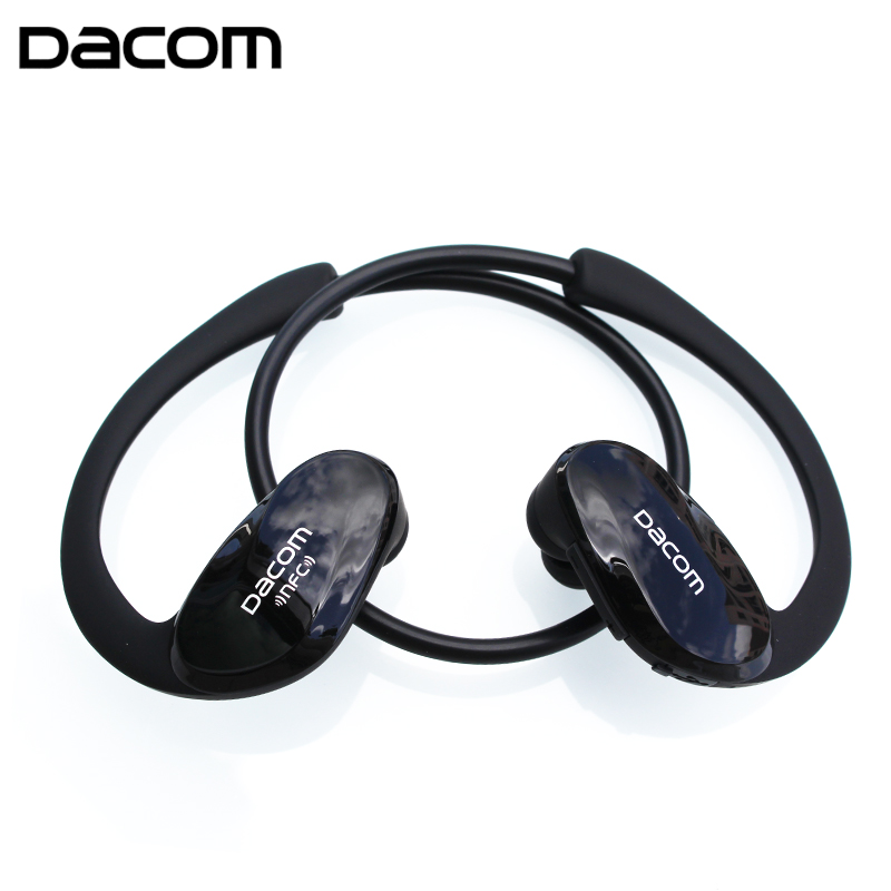 Dacom Athlete Bluetooth Headset Wireless Sport Headsfree Headphones Stereo Music Earphones Fone De Ouvido With Microphone & NFC showkoo stereo headset bluetooth wireless headphones with microphone fone de ouvido sport earphone for women girls auriculares