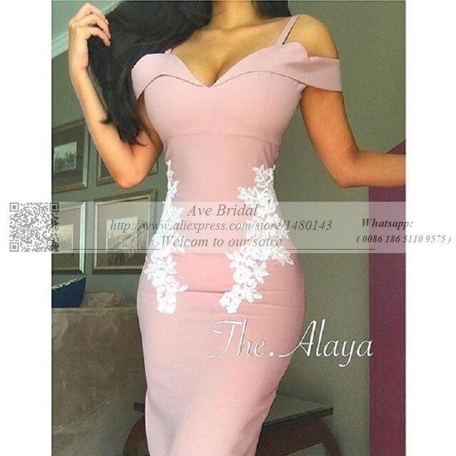 US $128 0 |Sexy Pink Mermaid Saudi Arabian Prom Dresses Qatar Spaghetti  Straps Sweetheart Formal Evening Party Gowns vestido longo-in Prom Dresses