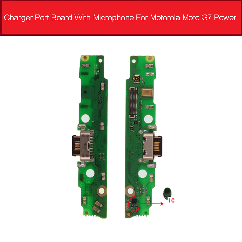 Genuine Usb Charger Board For Motorola Moto G7 POWER  USB Charging Jack Port Connector Board Flex Cable Replacement Parts
