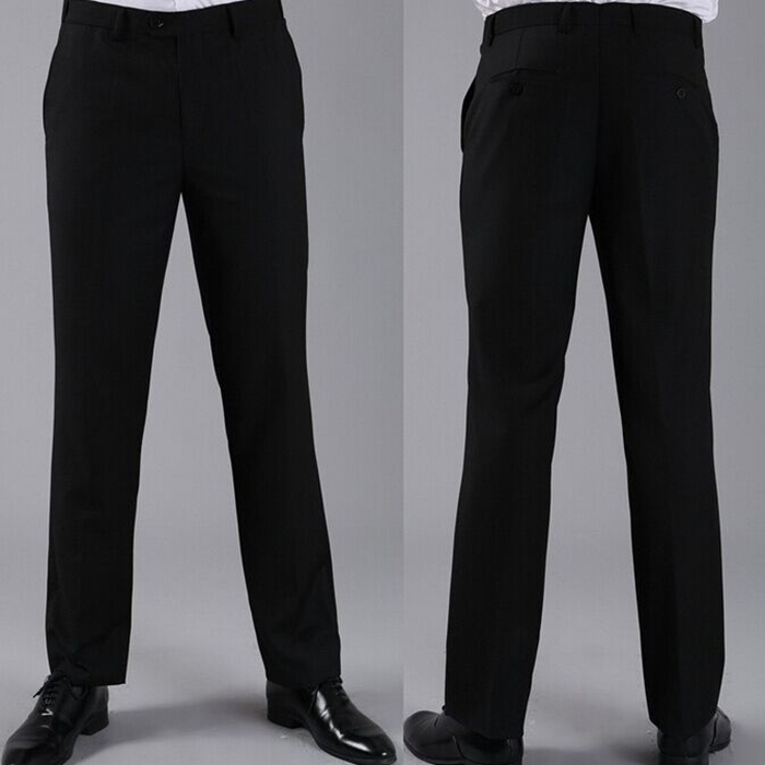 Мужские костюмные брюки модные свадебные формальные 12 цветов повседневные брюки известный бренд блейзер брюки Деловое платье брюки CBJ-H0284 - Цвет: slim black