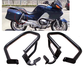 New Black Motorcycle Rear Engine Guard Highway Bumpers Crash Bar Frame Protection For BMW R1200RT 2005-2013 12 11 10 09 08 07 06