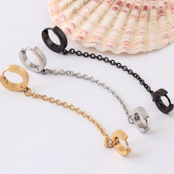 Double Piercing Earrings Chain Men 2
