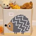 Brinquedos Caixa de Decoração Para Casa Roupas Cesta de Armazenamento Doméstico Organização Com caixa de armazenamento Tampa do padrão dos desenhos animados das Crianças