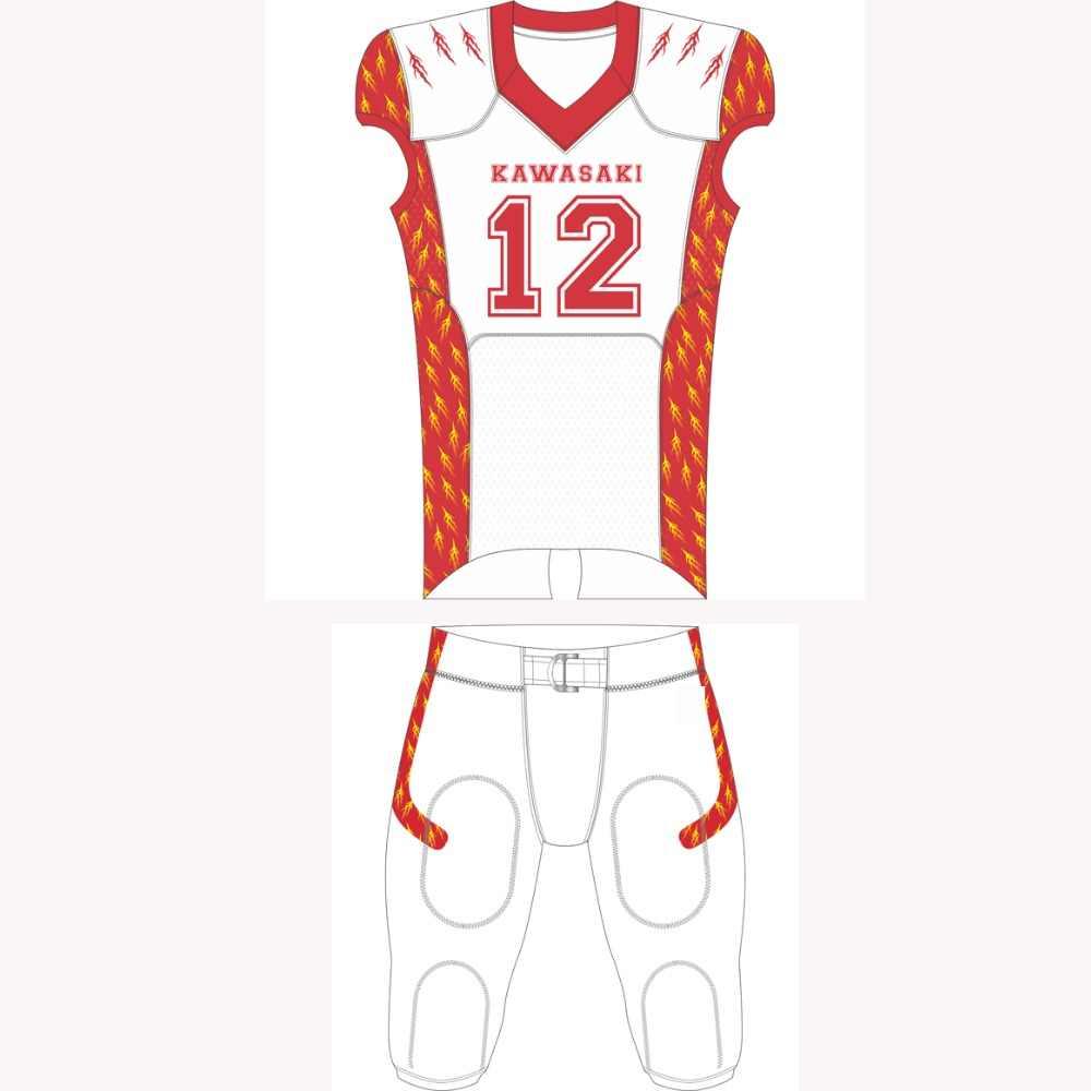 488a51dbae0 Kawasaki Custom American Football Jerseys Breathable Football Jersey Pants Sports  Team wear For Men Women Children