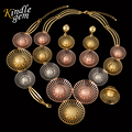 Magnificent Fireworks Silver Rose Gold Plated Jewelry Set Fashion Costume Parure Bijoux Femme Plaque Or Dubai Hihgh Quality
