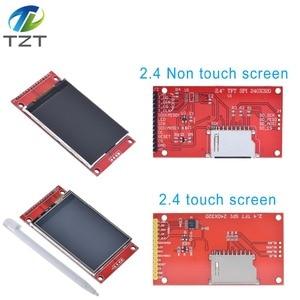"Image 5 - 2.4 ""240 × 320 spi tft lcdシリアルポートモジュール + 5v/3.3v pbcアダプタマイクロsd ILI9341 ledタッチ/arduinoのための無接触"