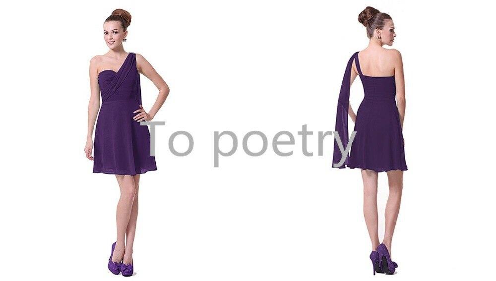 Custom Made Vestido De Festa Chiffon Royal Purple ...