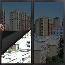 30*200cm Black Solar Mirrored Anti UV Window Film Glass Sticker Shading One Way Privacy Tint Heat Control Office Decoration