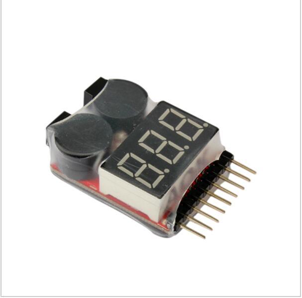 1-8S LED Lipo Voltage Indicator Checker Tester Low Voltage Buzzer Alarm