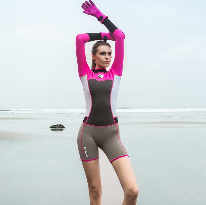 22043aff99 1.5mm Neoprene Short Women Scuba Diving Suits One Pieces Snorkeling  Equipment Wetsuits Surfing Rash Guards Bodysuits EO-in Wetsuit from Sports  ...