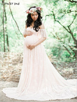 Gravida Maternity Photography Props Photo Lace Dresses Pregnancy Pregnant Maxi Dress Mama Gown Large Size Pregnant