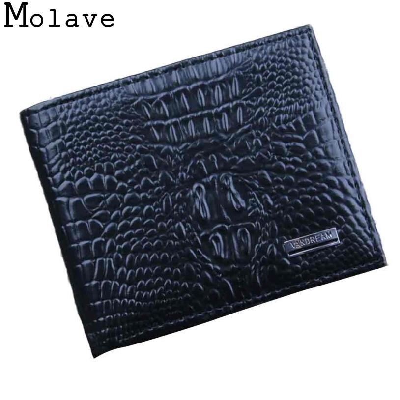 2017 Mode Heißer Männer Bifold Geschäfts Leder Brieftasche Id Kreditkarteninhaber Geldbörse Taschen Leder Hohe Qualität Kupplung Bagjuly0703
