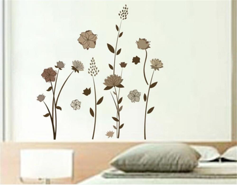 Vinilos de flores para pared vinilo infantil flores e for Sala vinilo
