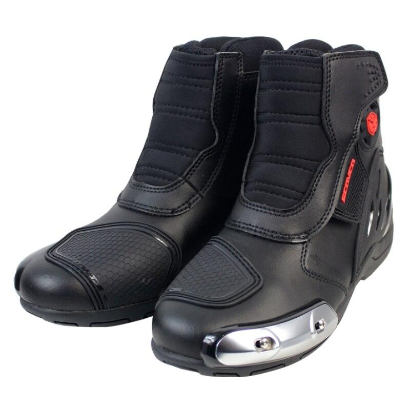 Scoyco MR002 Moto Racing кожаные мотоботы обувь мотоцикл для верховой езды Спорт дорожный Скорость Профессиональный Botas мужчины женский, черный