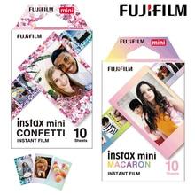 Пленка Fujifilm Instax Mini, конфетти + Макаруны Instax Mini, цветная пленка 9, 20 шт. для камеры Fuji Instant Mini 8, 9, 7s, 70, 90, для камеры, с функцией «мгновенный», для камеры 8, 9, 7s, 70, 90