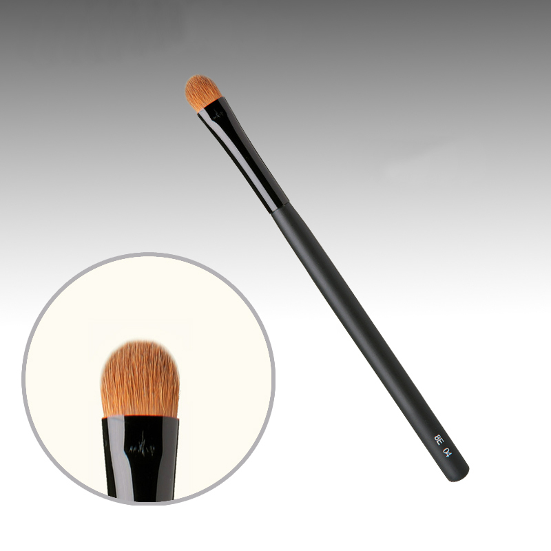 8E04 Professional Makeup Brushes Weasel Hair Eye Shadow Brush Black Handle Cosmetic Tools Make Up Brush 7e08 professional makeup brushes weasel hair eye shadow blending brush black handle cosmetic tools smoky eye make up brush
