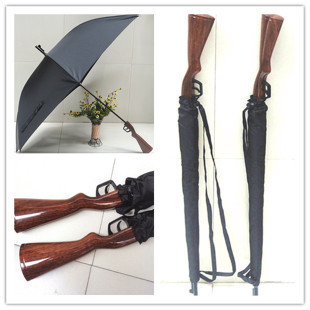 Free shipping coolest Rifle umbrella belt windproof personalized long-handled gun umbrella creative pistol umbrella