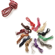 1Pair 8 Colors Waxed Coloured Shoelaces For Leather Shoes Laces Round Strings Martin Boots Sport Shoes Cord Ropes hot sale(China)