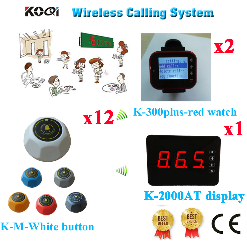 Wireless Restaurant Table Calling System 433 92mhz Waiter