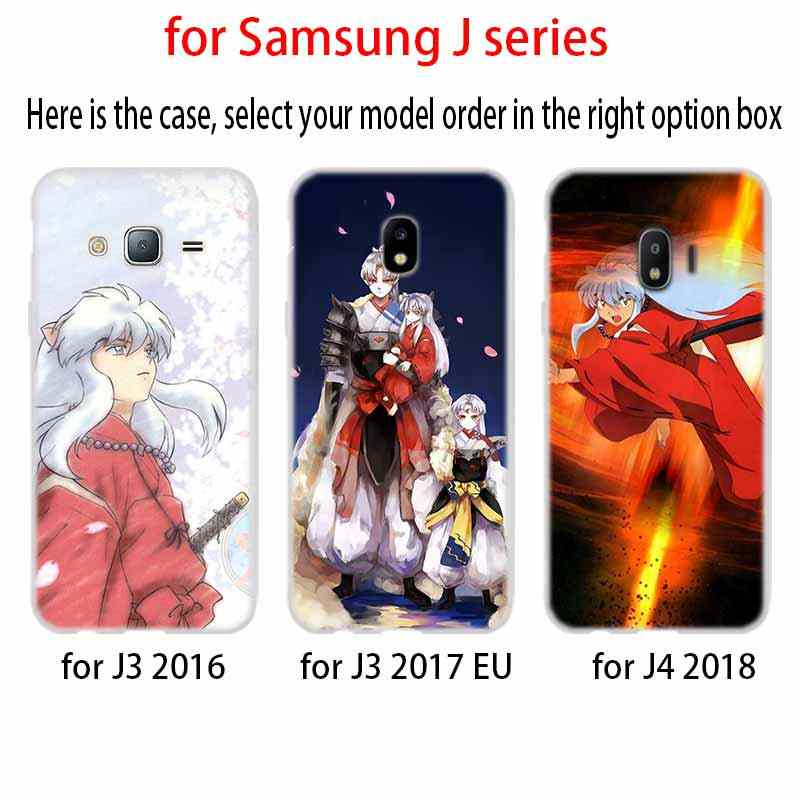 Inuyasha Japón Anime funda de silicona TPU Coque para Samsung Galaxy J6 J8 J3 J5 J7 J4 J2 J1 Plus 2018 de 2016 de 2017 de la UE primer Ace