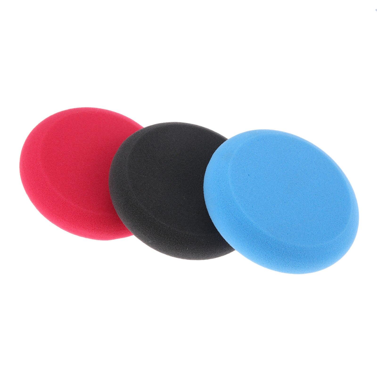 SPTA 10 Unids 125mm Pulido Esponja Almohadillas de Coche con Cera Esponja Aplicador Coche Almohadillas Esponja de Pulido Cera Almohadillas de Cera